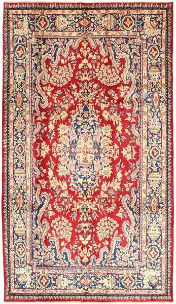 ヤズド 絨毯 196X340 オリエンタル 手織り ライトピンク/茶 (ウール, ペルシャ/イラン)