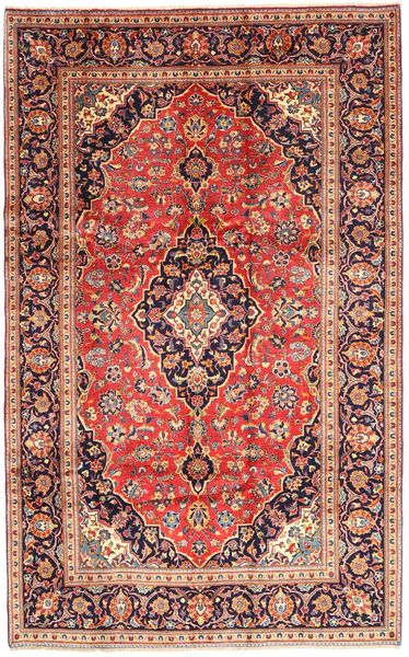 Keshan Rug 193X306 Authentic  Oriental Handknotted Dark Red/Light Brown (Wool, Persia/Iran)