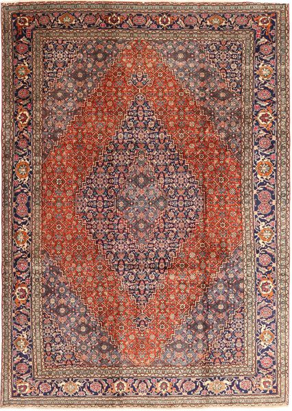 Tabriz Rug 237X345 Authentic  Oriental Handknotted Dark Red/Dark Brown (Wool, Persia/Iran)