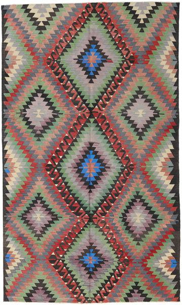 キリム トルコ 絨毯 178X304 オリエンタル 手織り 濃いグレー/紫 (ウール, トルコ)
