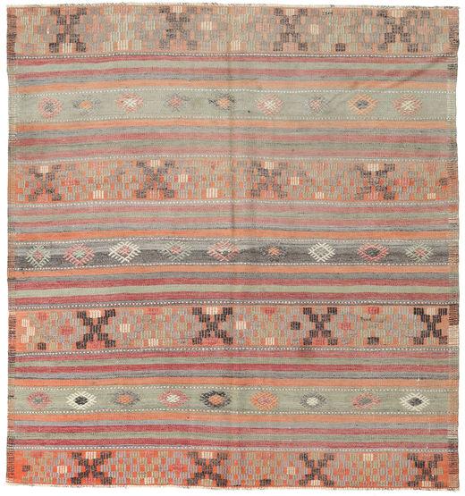 Kilim Turkish Rug 173X185 Authentic  Oriental Handwoven Square Light Brown/Light Grey (Wool, Turkey)