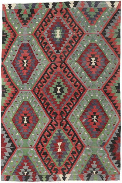 Kilim Turkish Rug 200X298 Authentic  Oriental Handwoven Olive Green/Dark Red (Wool, Turkey)