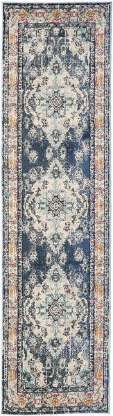 Leia - Bleu Tapis 80X300 Moderne Tapis Couloir Gris Clair/Gris Foncé/Beige ( Turquie)