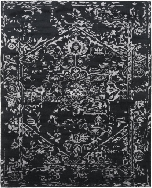 Orient Express - Black Rug 240X300 Authentic  Modern Handknotted Dark Grey/Light Grey (Wool/Bamboo Silk, India)
