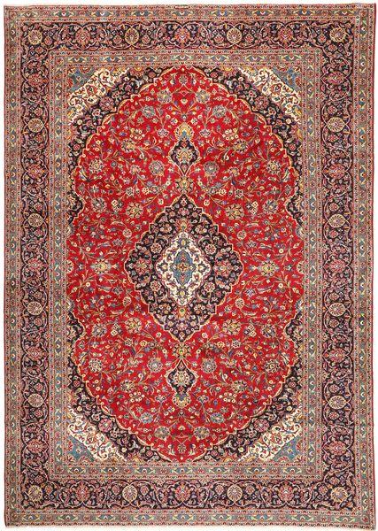 Keshan Matto 328X467 Itämainen Käsinsolmittu Vaaleanruskea/Tummanpunainen/Ruskea Isot (Villa, Persia/Iran)