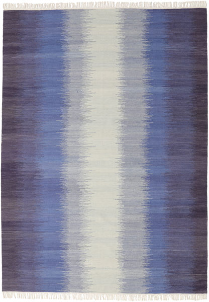 Ikat - Dark Blue Rug 210X290 Authentic  Modern Handwoven Light Grey/Purple (Wool, India)
