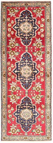 Tebriz Dywan 98X293 Orientalny Tkany Ręcznie Chodnik Jasnobrązowy/Rdzawy/Czerwony (Wełna, Persja/Iran)