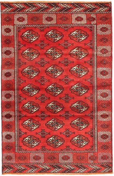 Turkaman Rug 117X187 Authentic  Oriental Handknotted Dark Red/Orange (Wool, Persia/Iran)