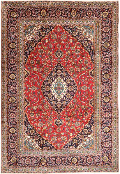 Keshan Rug 240X352 Authentic  Oriental Handknotted Dark Red/Brown (Wool, Persia/Iran)