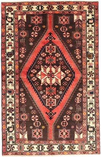 Hamadan Tapis 130X210 D'orient Fait Main Rouge Foncé/Rouge (Laine, Perse/Iran)