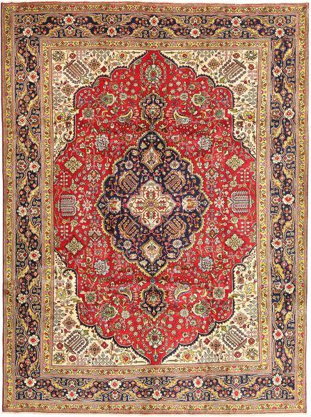 Tabriz Rug 248X340 Authentic  Oriental Handknotted Dark Brown/Dark Red (Wool, Persia/Iran)
