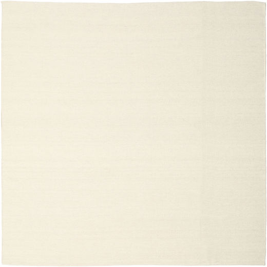 Kilim Loom - Off White Rug 250X250 Authentic  Modern Handwoven Square Beige Large (Wool, India)