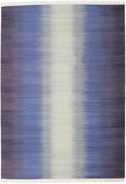 Ikat - Tumma Sininen Matto 240X340 Moderni Käsinkudottu Violetti/Vaaleanharmaa (Villa, Intia)