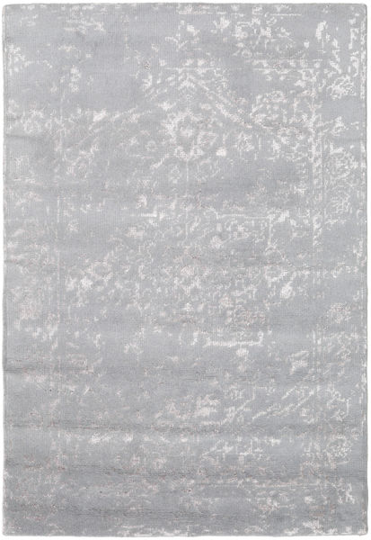 Orient Express - Grey Rug 140X200 Authentic  Modern Handknotted Light Grey (Wool/Bamboo Silk, India)