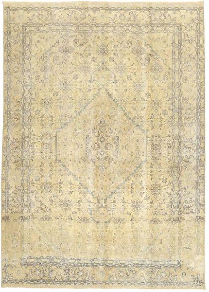 Colored Vintage Szőnyeg 200X280 Modern Csomózású Bézs/Sötét Bézs/Sárga (Gyapjú, Perzsia/Irán)