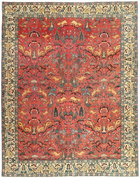Tabriz Patina Matto 248X318 Itämainen Käsinsolmittu Ruoste/Vaaleanruskea (Villa, Persia/Iran)