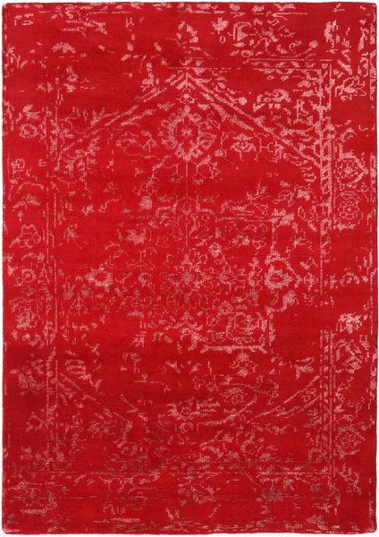 Orient Express - Röd Matta 160X230 Äkta Modern Handknuten Röd/Roströd (Ull/Bambusilke, Indien)