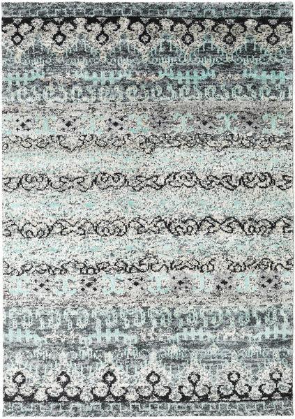Quito - Grå Matta 160X230 Äkta Modern Handknuten Ljusgrå/Vit/Cremefärgad (Silke, Indien)