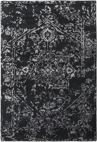 Orient Express - Black Rug 160X230 Authentic  Modern Handknotted Dark Grey/Light Grey (Wool/Bamboo Silk, India)