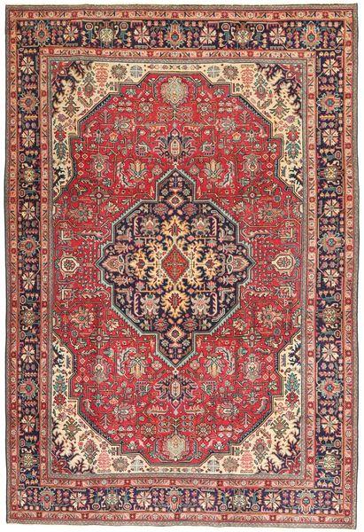 Tabriz Patina Matto 198X294 Itämainen Käsinsolmittu Ruskea/Violetti (Villa, Persia/Iran)