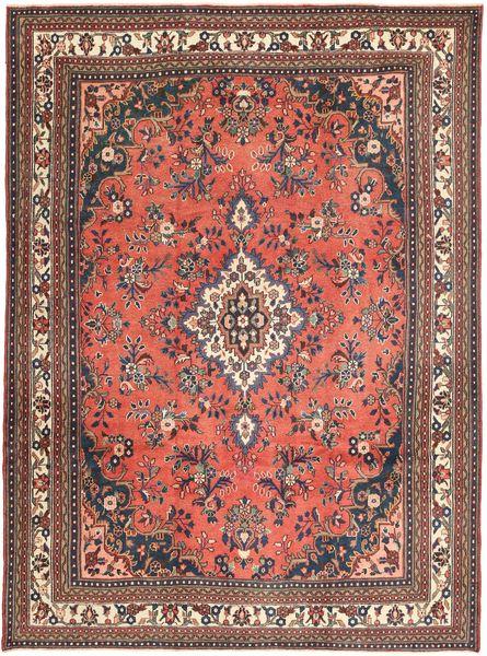 Hamadan Shahrbaf Patina Matta 258X348 Äkta Orientalisk Handknuten Mörkröd/Mörkbrun Stor (Ull, Persien/Iran)