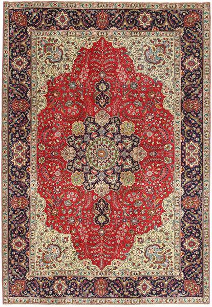 Tabriz Patina Alfombra 203X290 Oriental Hecha A Mano Rojo Oscuro/Marrón Claro (Lana, Persia/Irán)