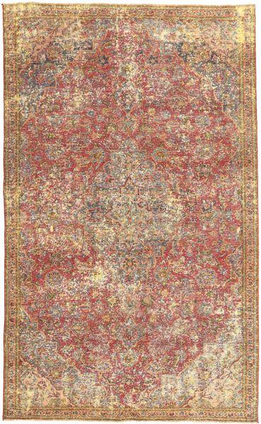 Colored Vintage Teppe 166X270 Ekte Moderne Håndknyttet Brun/Lysbrun (Ull, Persia/Iran)