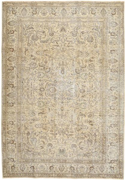 Colored Vintage Rug 208X293 Authentic  Modern Handknotted Light Brown/Beige (Wool, Persia/Iran)