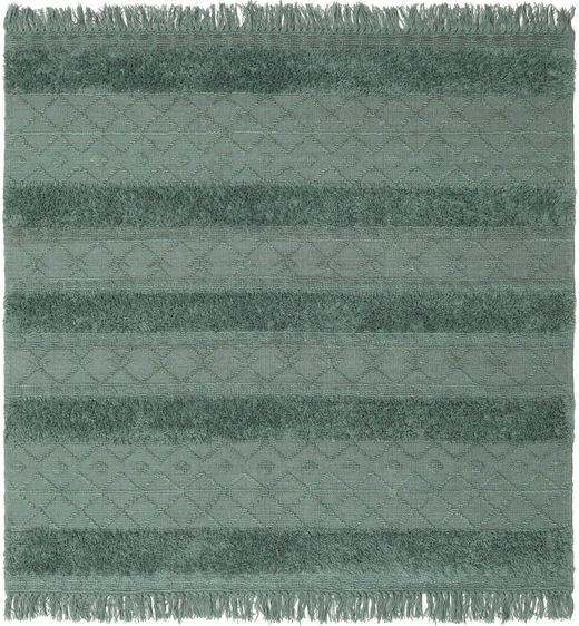 Kilim Berber Ibiza - Misty Green Rug 200X200 Authentic  Modern Handwoven Square Dark Grey/Dark Green (Wool, India)