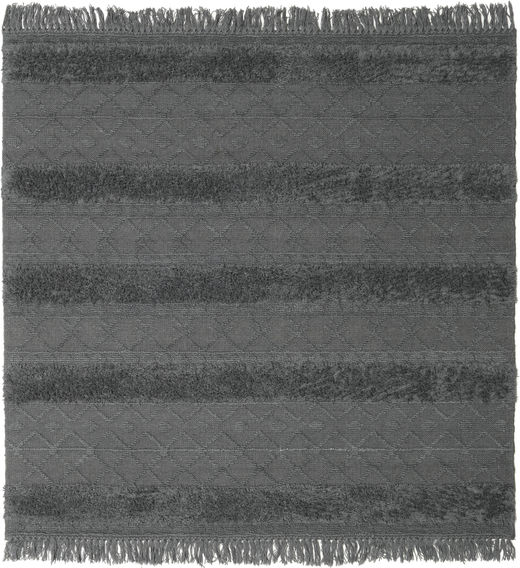 Kilim Berber Ibiza - Soft Grey Rug 200X200 Authentic  Modern Handwoven Square Blue/Dark Grey (Wool, India)