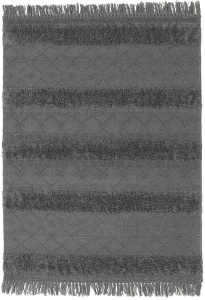 Kilim Berber Ibiza - Soft Grey Rug 140X200 Authentic  Modern Handwoven Black/Blue (Wool, India)