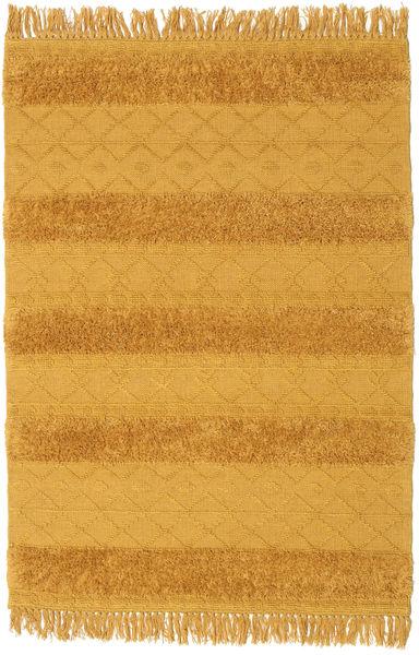 キリム Berber Ibiza - マスタード 絨毯 140X200 モダン 手織り オレンジ/薄茶色 (ウール, インド)