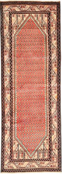 Sarough Mir Matto 100X307 Itämainen Käsinsolmittu Käytävämatto Vaaleanruskea/Oranssi (Villa, Persia/Iran)