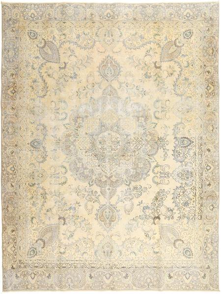 Colored Vintage Tæppe 275X364 Ægte Moderne Håndknyttet Beige/Mørk Beige Stort (Uld, Persien/Iran)