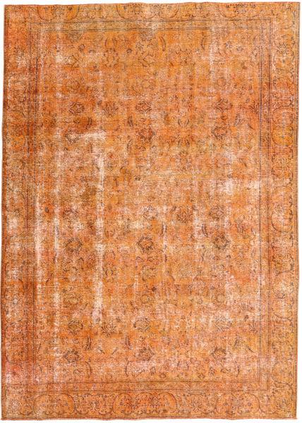 Colored Vintage Tapijt 227X315 Echt Modern Handgeknoopt Oranje/Lichtbruin/Donkerbeige (Wol, Pakistan)