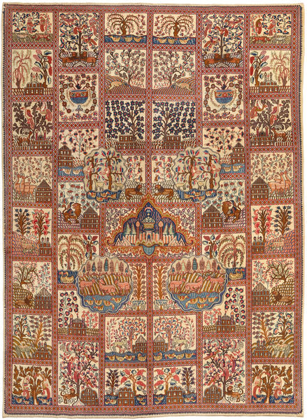 Kashmar Patina Rug 288X388 Authentic  Oriental Handknotted Light Brown/Brown Large (Wool, Persia/Iran)
