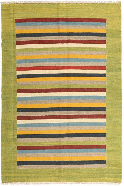 Kilim Dywan 166X250 Nowoczesny Tkany Ręcznie Zielony/Oliwkowy/Żółty (Wełna, Persja/Iran)