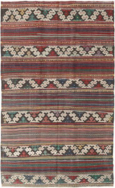 Kilim Turkish Rug 144X235 Authentic  Oriental Handwoven Brown/Dark Brown (Wool, Turkey)