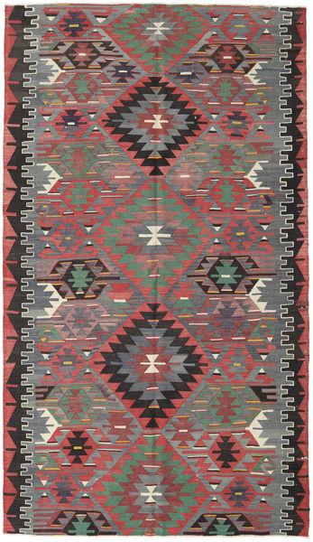 Kilim Turkish Rug 166X290 Authentic  Oriental Handwoven Brown/Dark Grey (Wool, Turkey)