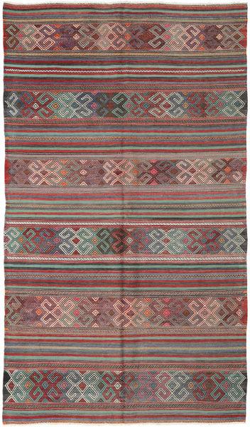 Kilim Turkish Rug 174X294 Authentic  Oriental Handwoven Dark Grey/Dark Red (Wool, Turkey)
