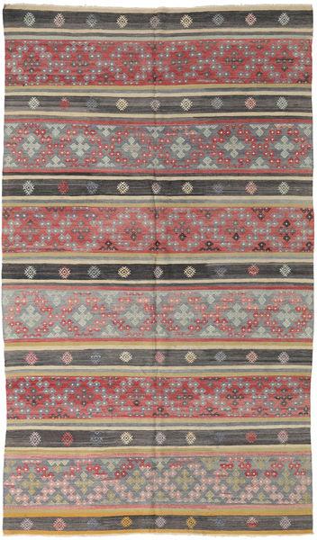 Kilim Turkish Rug 175X300 Authentic  Oriental Handwoven Light Brown/Dark Grey (Wool, Turkey)