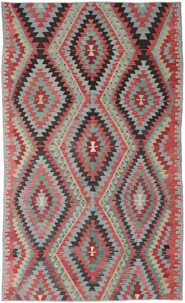 Kelim Turkisk Matta 178X287 Äkta Orientalisk Handvävd Ljusgrå/Roströd (Ull, Turkiet)
