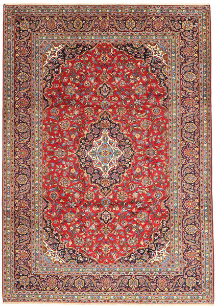 Keshan Rug 247X351 Authentic  Oriental Handknotted Brown/Light Brown (Wool, Persia/Iran)