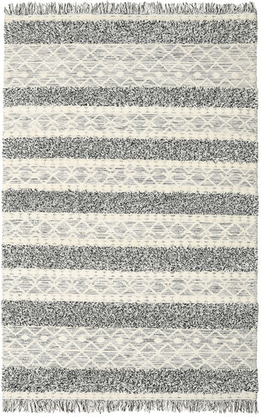 Kilim Berber Ibiza - Black And White Mix Rug 300X400 Authentic  Modern Handwoven Light Grey/Beige Large (Wool, India)