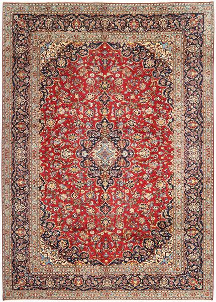 Keshan Matto 297X402 Itämainen Käsinsolmittu Tummanpunainen/Vaaleanruskea Isot (Villa, Persia/Iran)