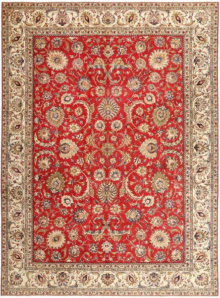 Tabriz Patina Matto 335X454 Itämainen Käsinsolmittu Ruskea/Vaaleanruskea/Ruoste Isot (Villa, Persia/Iran)