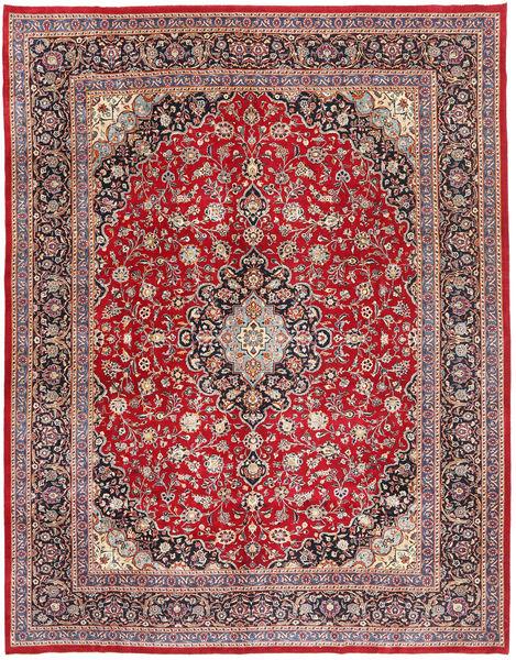 Mashad Patina Teppe 295X375 Ekte Orientalsk Håndknyttet Mørk Rød/Mørk Brun Stort (Ull, Persia/Iran)