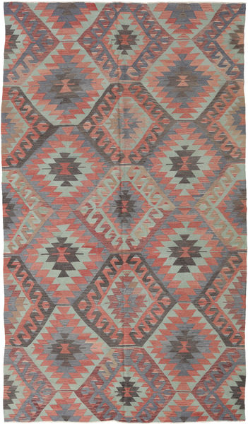 Kilim Turkish Rug 188X330 Authentic  Oriental Handwoven Light Grey/Light Brown (Wool, Turkey)