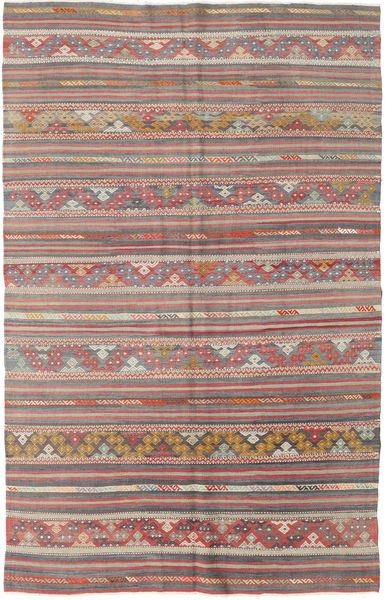 Kilim Turkish Rug 154X248 Authentic  Oriental Handwoven Light Brown/Light Grey (Wool, Turkey)