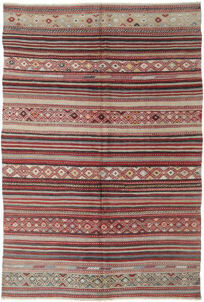 Kilim Turkish Rug 158X237 Authentic  Oriental Handwoven Brown/Light Grey (Wool, Turkey)